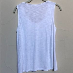 Chico's Tops - Chico's white lace sleeveless top w/embellish